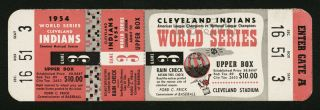 1954 World Series Game 3 ticket stub 400