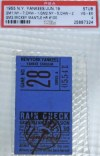 1955 Mickey Mantle 100th Home Run ticket stub