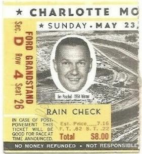 1965 World 600 ticket stub