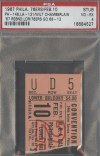 1967 Philadelphia 76ers vs Lakers Wilt Chamberlain Ticket Stub