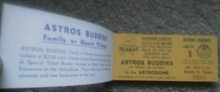 1971 Houston Astros Buddies kids coupon Fun Book