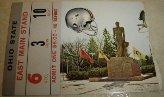 1972 NCAAF Ohio State ticket stub vs Michigan State Woody Hayes Archie Griffin 20