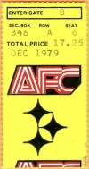 1979 AFC Divisional Game ticket stub Steelers vs Dolphins