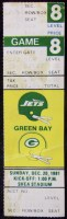 1981 New York Jets Full Ticket vs Green Bay Packers
