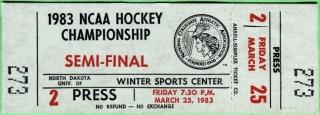 1983 NCAA Men's Hockey Final ticket stub