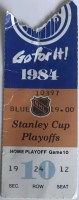 1984 Stanley Cup Final Game 4 ticket stub Oilers vs Islanders