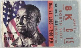 1985 Independence Bowl Ticket Stub Minnesota vs Clemson 11