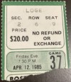 1985 Larry Bird 47 Points Ticket Stub