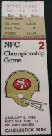 1985 NFC Championship Game ticket stub Bears 49ers