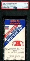 1988 AFC Championship Game ticket stub Browns Broncos