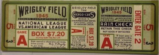 1945 World Series Game 4 Full Ticket Cubs Tigers Billy Goat 395