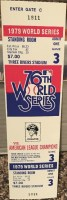 1979 World Series Game 3 full ticket Pirates vs Orioles