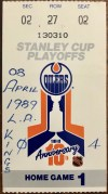 1989 NHL Playoffs Ticket Stub Oilers vs Kings
