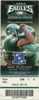 2003 NFC Divisional Game ticket stub Eagles Packers