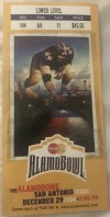 2004 Alamo Bowl ticket stub Ohio State vs Oklahoma St