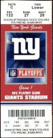 2009 NFC Divisional Game ticket stub Giants Eagles