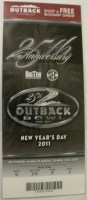 2011 Outback Bowl ticket stub Penn State vs Florida