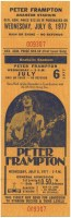 1977 Peter Frampton ticket stub Anaheim