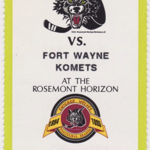 1995 IHL Chicago Wolves unused ticket vs Ft. Wayne
