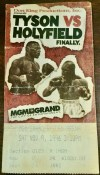 1996 Boxing ticket stub Mike Tyson vs Evander Holyfield