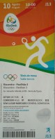 2016 Olympics Rio Table Tennis ticket stub