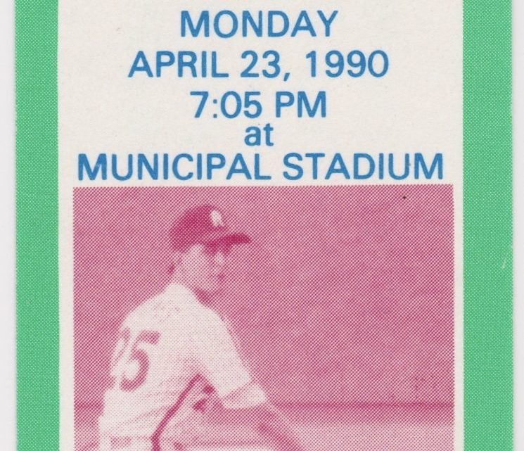 1990 Reading Phillies ticket stub vs Philadelphia