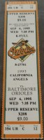 1995 Cal Ripken Breaks Gehrig's Consecutive Game Streak Ticket Stub