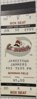 1999 Williamsport Crosscutters ticket stub vs Jamestown