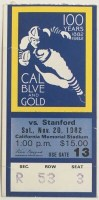 1982 NCAAF California vs Stanford ticket stub – The Play