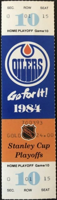 1984 Stanley Cup Final Game 4 ticket stub 282