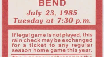 1985 Eugene Emeralds ticket stub vs Bend