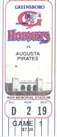 1993 Greensboro Hornets Derek Jeter ticket stub vs Augusta