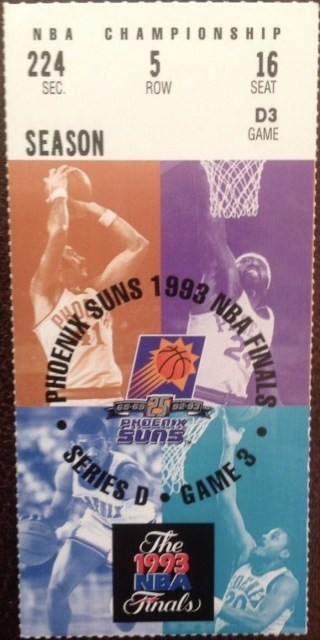 1993 NBA Finals Game 6 Ticket Stub 900
