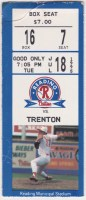 1995 Reading Phillies ticket stub vs Trenton