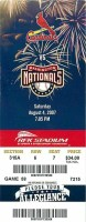 2007 Washington Nationals ticket stub vs St. Louis