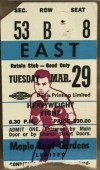 1966 Boxing ticket stub Muhammad Ali vs George Chuvalo