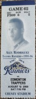 2000 Tacoma Rainiers ticket stub vs Edmonton