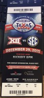 2015 Texas Bowl ticket stub LSU vs Texas Tech