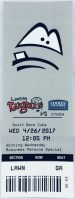 2017 Lansing Lugnuts ticket stub vs South Bend