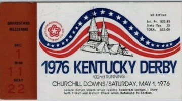 1976 Kentucky Derby ticket stub