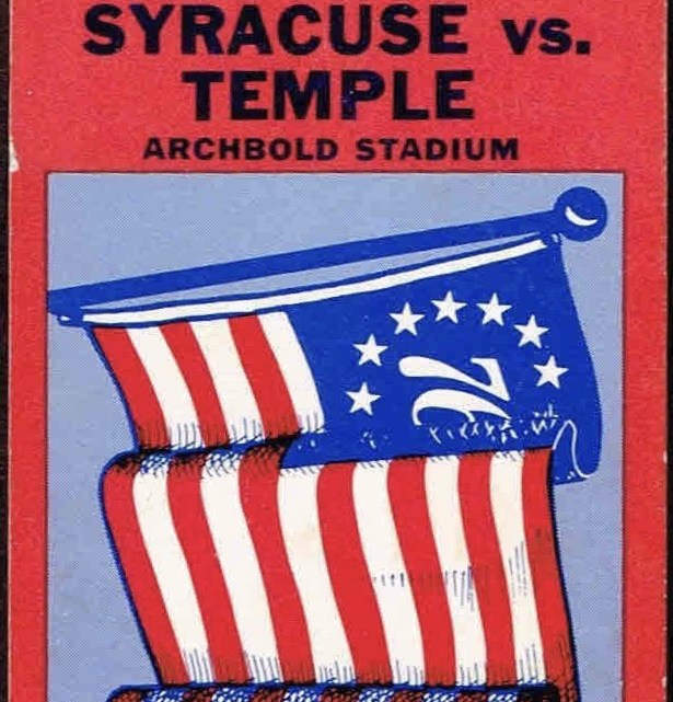 1976 NCAAF Syracuse University ticket stub vs Temple