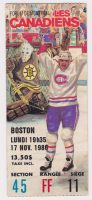 1986 Montreal Canadiens ticket stub vs Boston