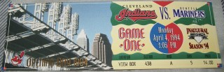 1994 Cleveland Indians Opening Day ticket stub 25