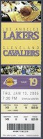 2005 Kobe vs LeBron ticket stub