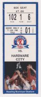 1996 Reading Phillies ticket stub vs Hardware City