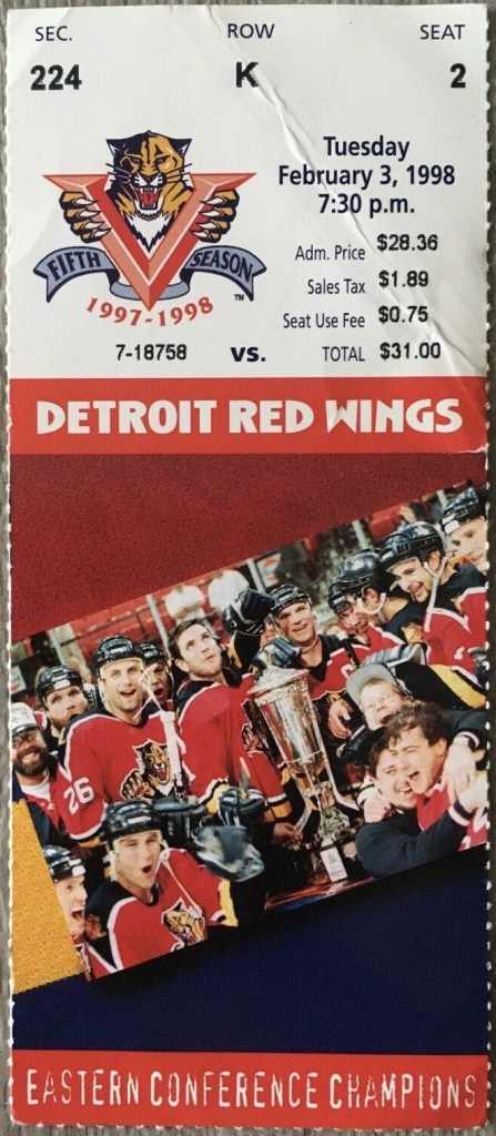 1998 Dino Ciccarelli 600th Goal Ticket Stub