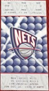 1999 New Jersey Nets ticket stub vs Chicago