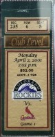 2001 Albert Pujols MLB Debut Ticket Stub