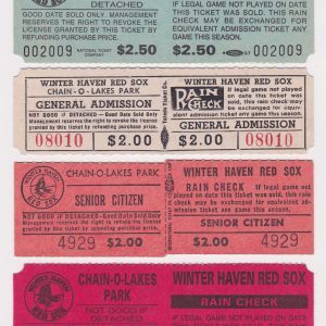 Winter Haven Red Sox ticket stub lot of 4 separate