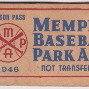 1946 Memphis Chicks Clergy Pass Booklet